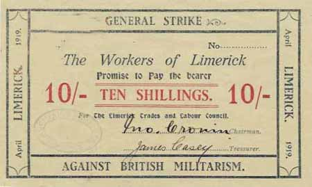Money issued by the 1919 Limerick Soviet