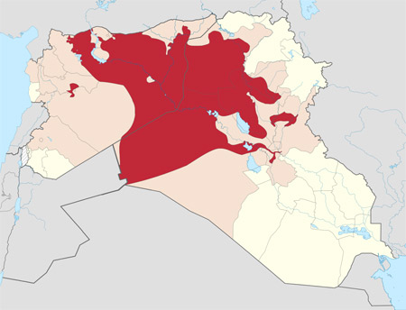ISIS control of Syria & Iraq as of Sept 2014 from Wikipedia